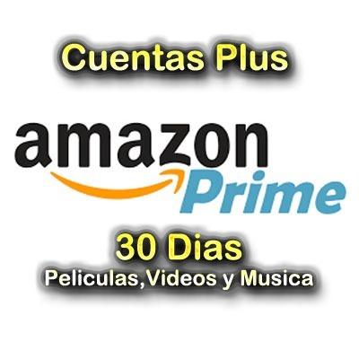 amazon prime.videos,peliculas y musica.30 dias.(plus)