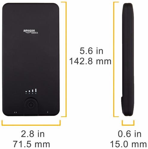 amazonbasics banco portable - 10.000 mah