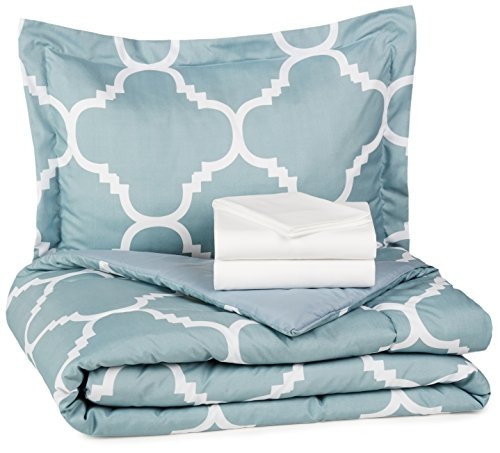 amazonbasics de 5 piezas bed-in-a-bag - doble / twin extra