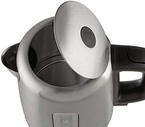 amazonbasics hervidor de agua eléctrico de acero inoxidable