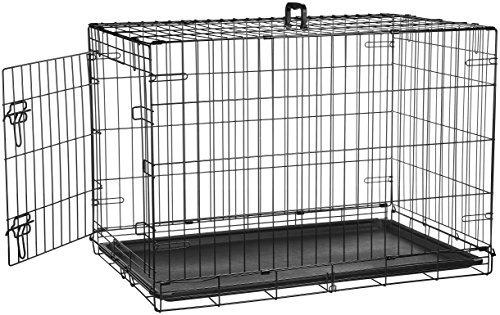 amazonbasics single door y double door plegables metal dog c