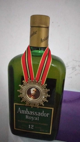 ambassador royal - blended scotch whisky 12 anos  raro 1970*