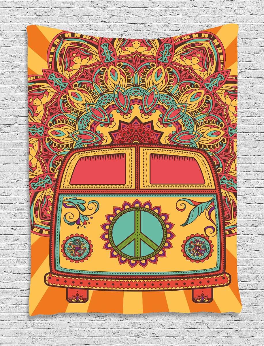 Ambesonne 70s Decoraciones Para Fiestas Tapiceria Hippie - Decoracion-hippie-fiesta