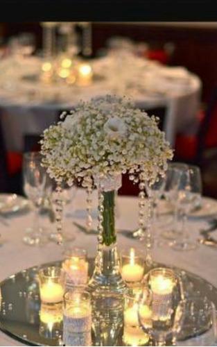 ambientacion ctro mesa flores naturales bodas  15 años