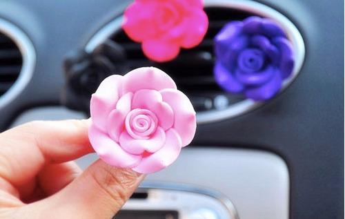 ambientador para autos en forma de flor