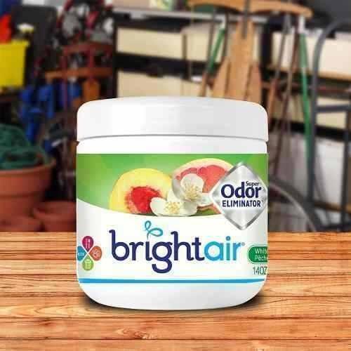 ambientador y eliminador olores bright air solid 14oz peach