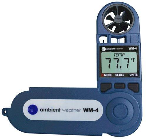 ambiente tiempo wm-4 estación portátil con velocidad del