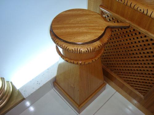 ambão de fogo e outros para maçônaria em madeira