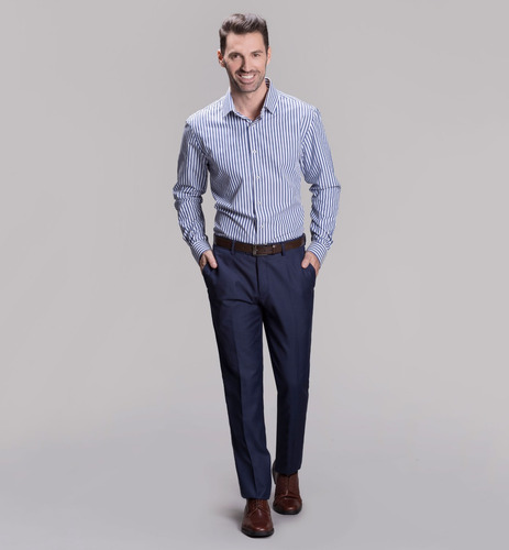 ambo liso corte slim fit devre color azulino 03d078 hot sale