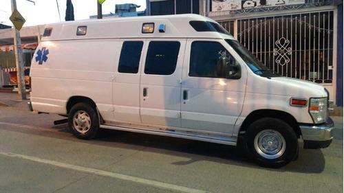 ambulancia 2009 ford e-350 tipo 2, diesel demers