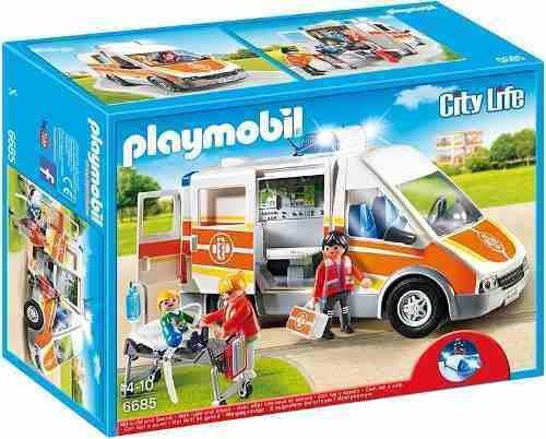 ambulancia con luces y sonido playmobil pm6685 r3157