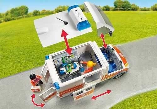 ambulancia con luces y sonido playmobil r3157