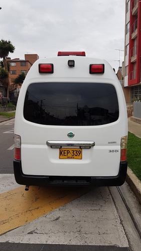 ambulancias otros nissan urvan 2013