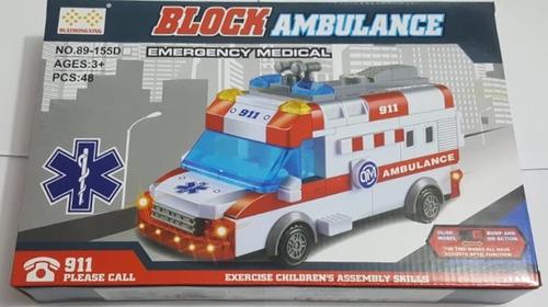 ambulância som e luz montar block bate volta emergência