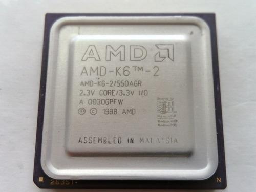 amd k6-2 550 / 64 / 100 2.3v socket 7