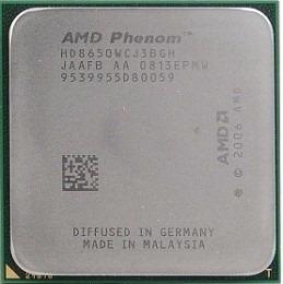 amd phenom x3 8650 3 nucleos