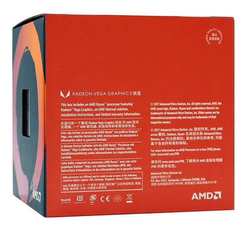 amd ryzen 3 2200g r3 upc procesador upc central procesador 4