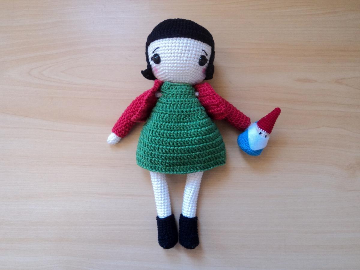 Como fazer Cabelo para Boneca Amigurumi Tam G - Crochê passo a ... | 900x1200