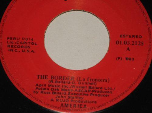 america  disco 45 rpm vinilo the border