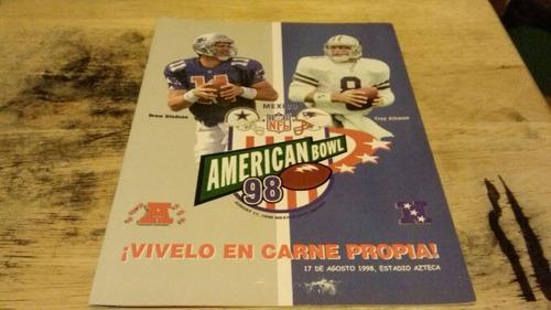 american bowl 98 cowboys vs. patriots programa.