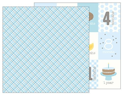 american crafts 733503 baby boy plaid 25 pack of 12 x 12 pat