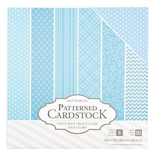 color blanco American Crafts cartulina 12/unidades 30,5/x 30,5/cm 60/unidades