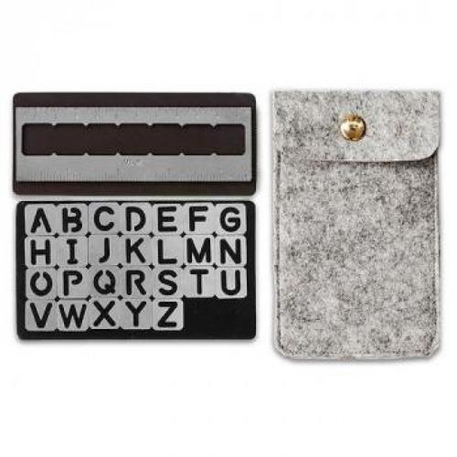 american crafts - journal studio - stencils de alfabeto magn