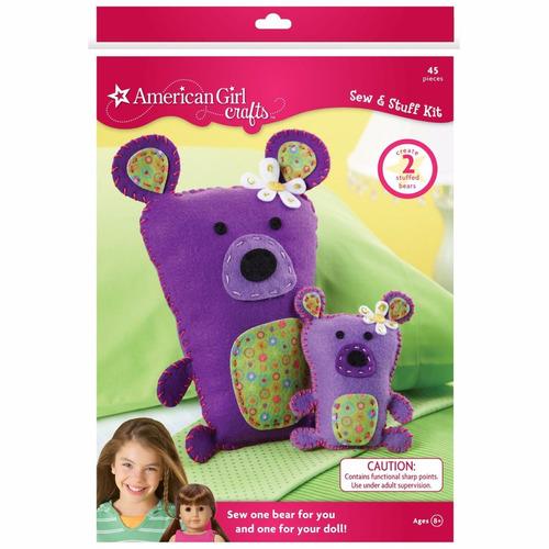 american girl crafts bears sew and stuff kit