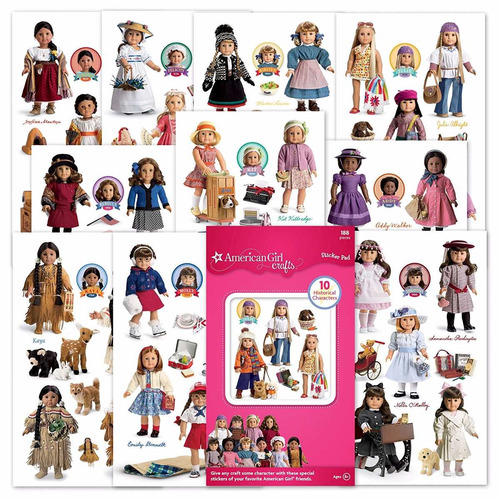 american girl crafts historical dolls sticker pad