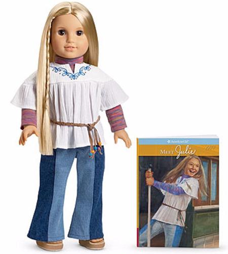 american girl julie 18  doll & book
