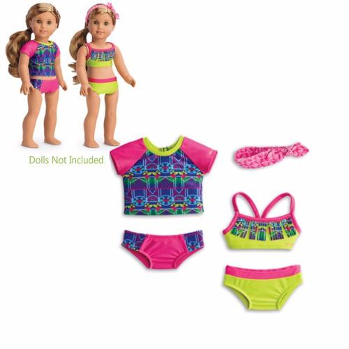 american girl - lea clark - lea's mix & match swim set