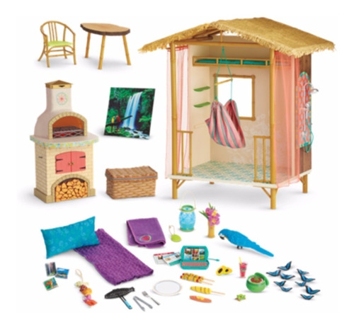american girl - lea clark - lea's rainforest house for dolls