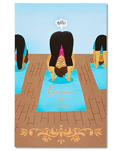 American Greetings Funny Yoga Tarjeta De Cumpleanos Para