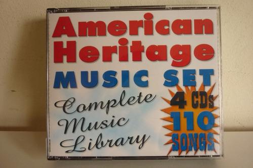 american heritage music 4 set compact discs canciones