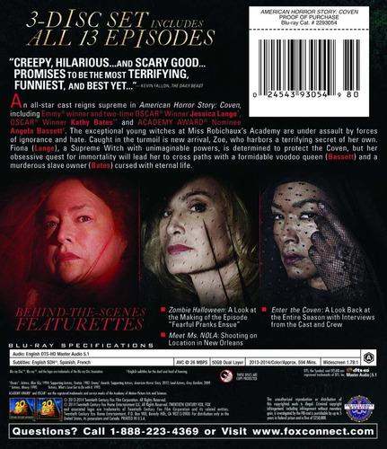 american horror story tercera temporada 3 tres blu-ray