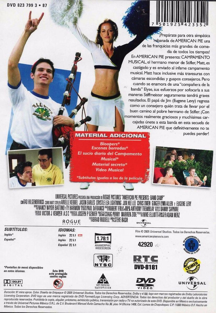 American Pie Campamento De Bandas american pie - campamento de bandas - tad hilgenbrinck - dvd - $ 70.00