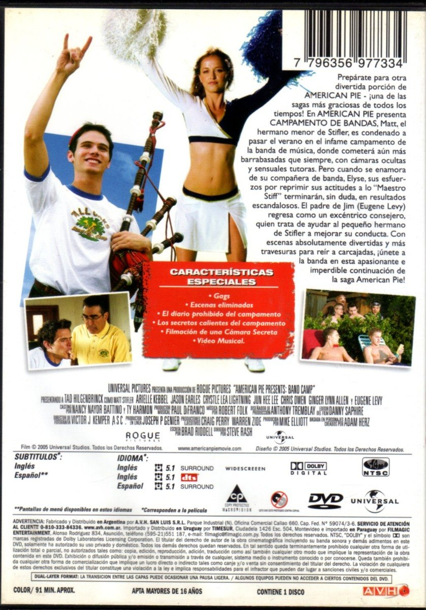 American Pie Campamento De Bandas american pie presenta: campamento de bandas - dvd original - $ 194,25