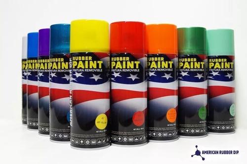 american rubber dip pintura removible vinilo negro mate auto