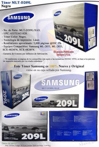 americano toner samsung 209l scx- 4828 4824 nuevo 100%
