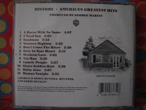 america,s  cd greates hits history  usa edc.75