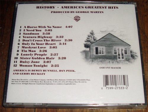 america´s greatest hits history cd importado/ kktus