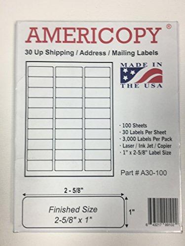 americopy 3000 etiquetas em branco o nome e o endereço do r