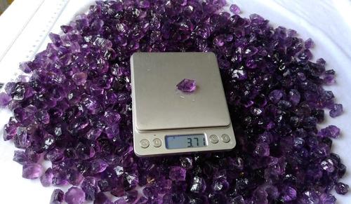 ametista extra martelada roxa bruta - 1 kg