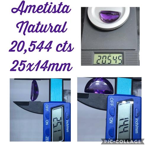 ametista natural 20 545 cta 25x14 mm lua