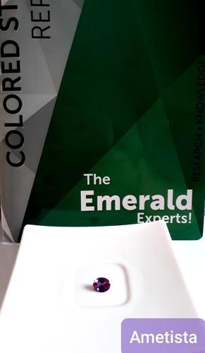ametista tallada y faceteada esmeralda