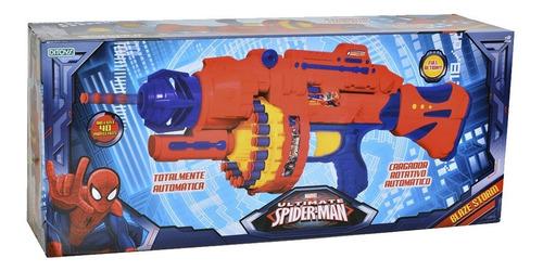 ametralladora dardos spiderman blaze storm automatica ditoys