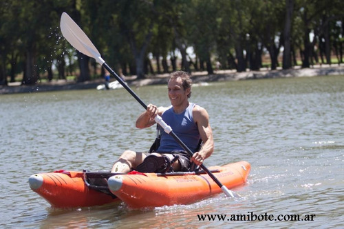 amibote, bote kayak inflable y plegable que se hace mochila