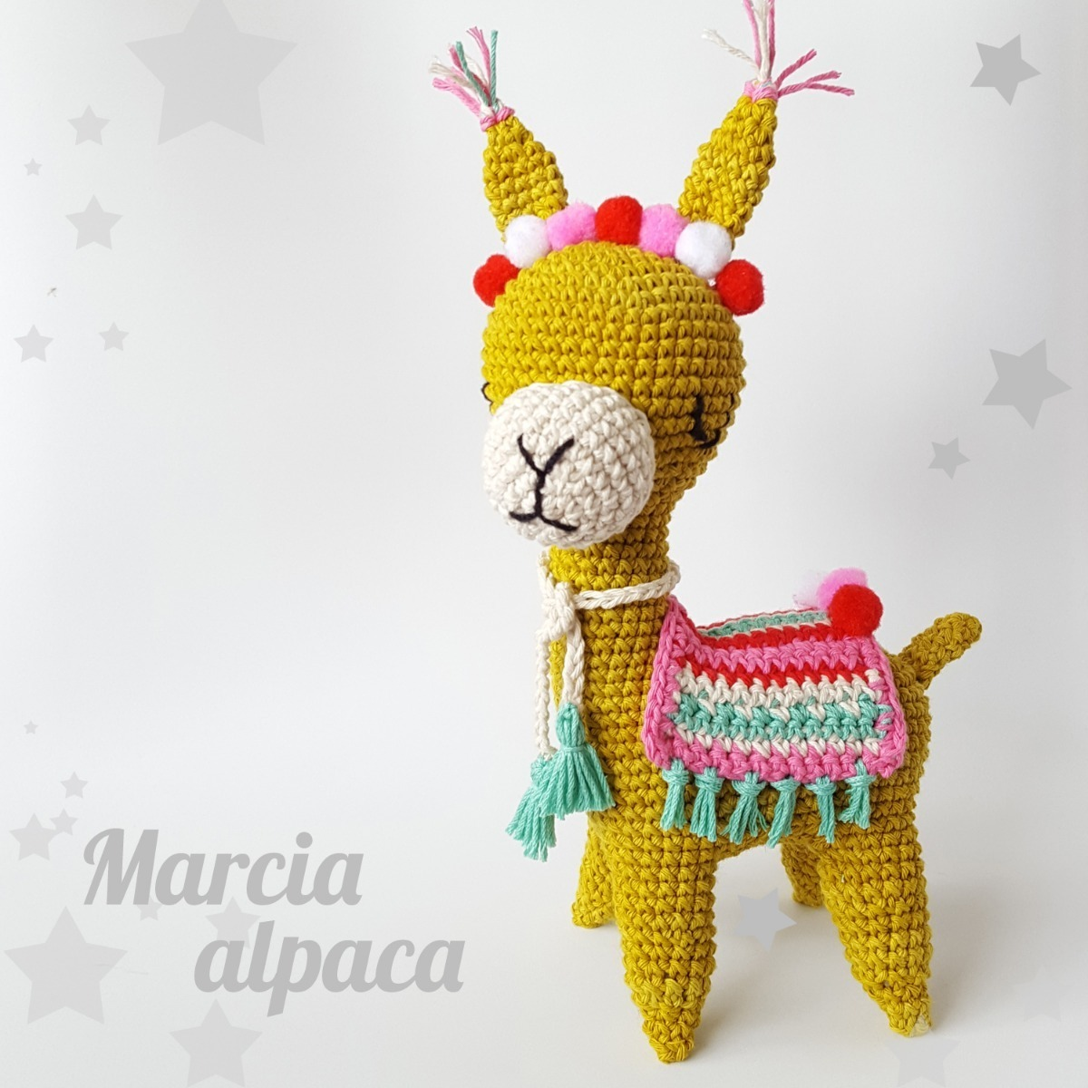 Alonzo the Alpaca... but FLUFFY : Amigurumi | 1200x1200