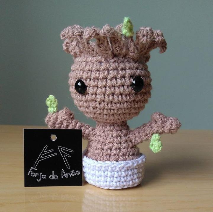 Croche Amigurumi Boneco Baby Groot Marvel - R$ 40,00 em Mercado Livre | 716x720