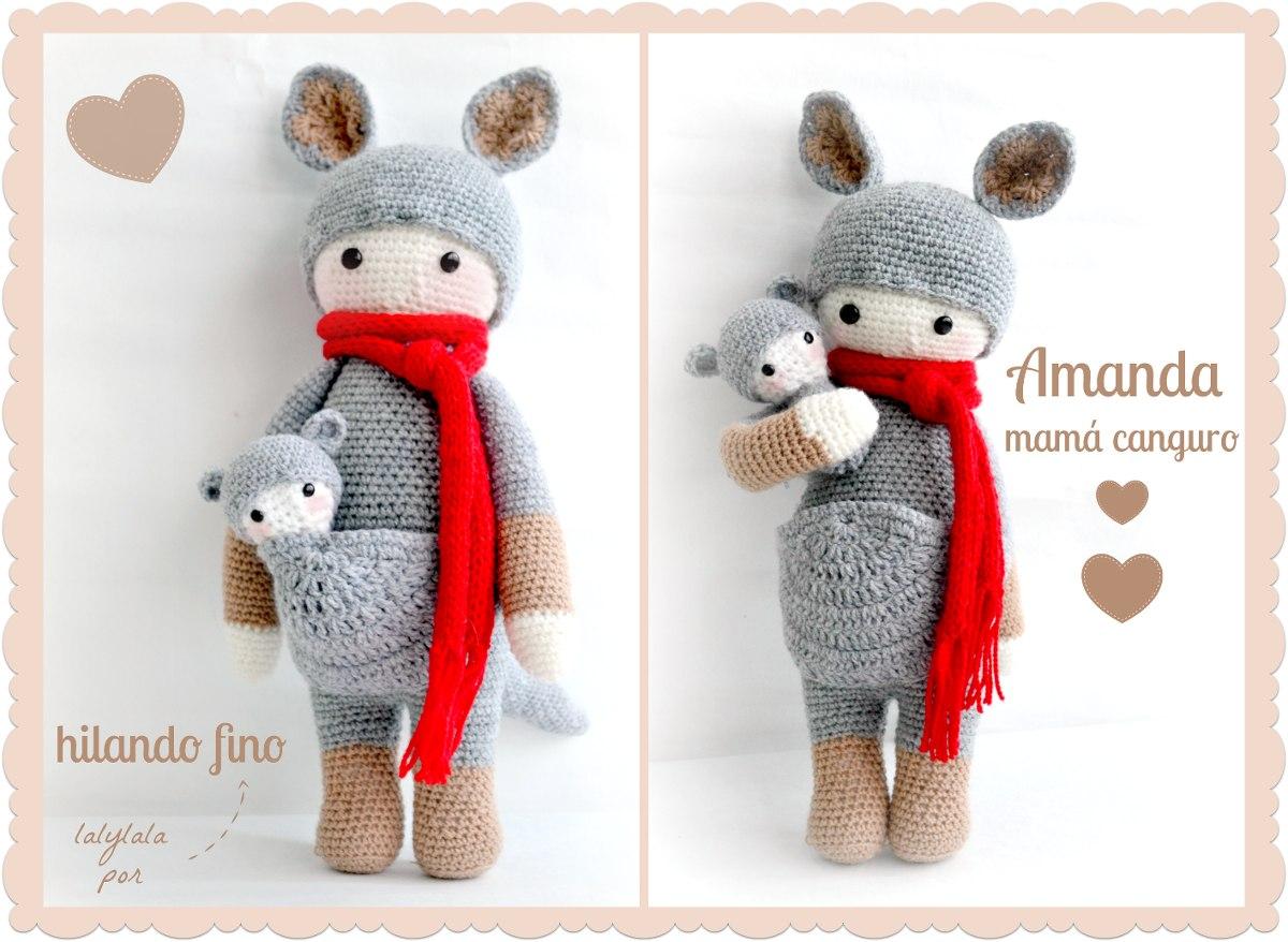 Amigurumi Canguro, Muñecos Lalylala Al Crochet, Miralas!!!! - $ 270 ...